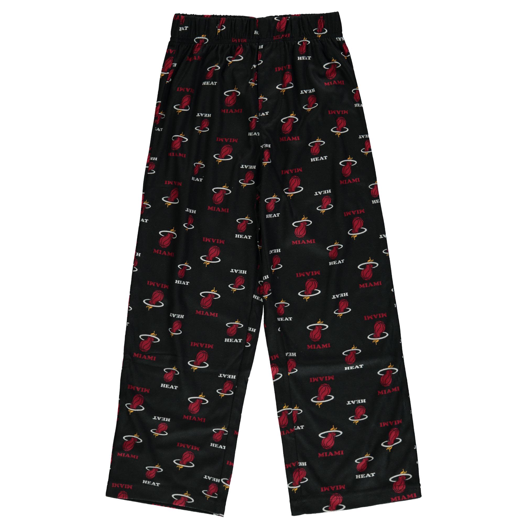 Miami Heat Nike Youth Team Color Printed Pants - Black