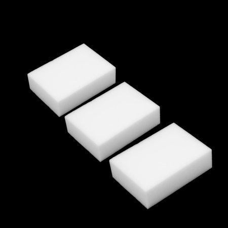 3Pcs White Rectangle Shaped Nano Multipurpose Car Body Washing Cleaning Sponge