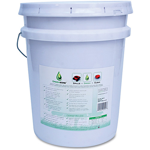 GreenSorb Eco-Friendly Sorbent, Clay, 25lb Bucket
