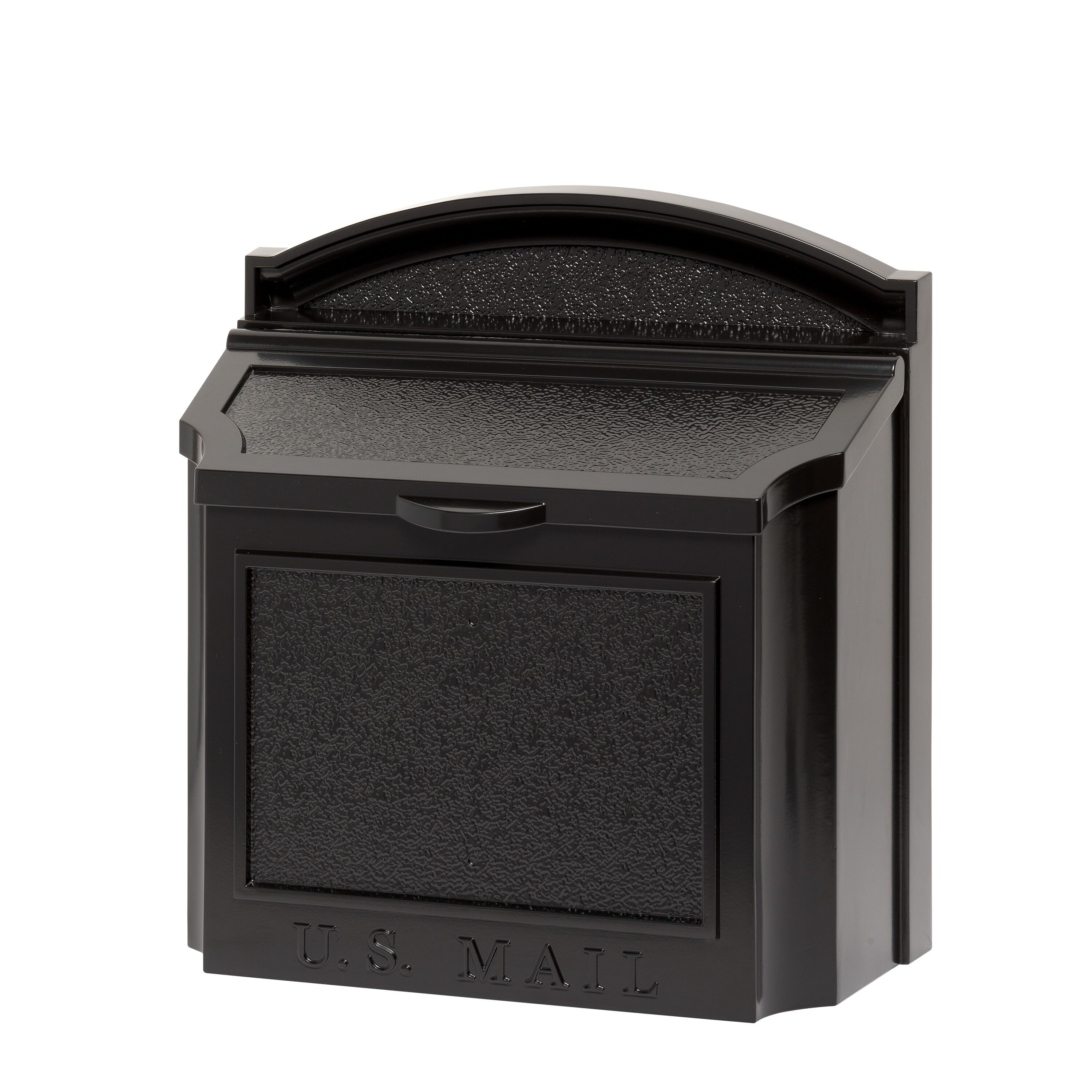 Whitehall Wall Mounted Locking Security Mailbox in Black by Whitehall