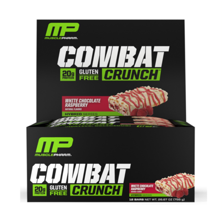 MusclePharm Combat Crunch White Chocolate Raspberry 12 Pack