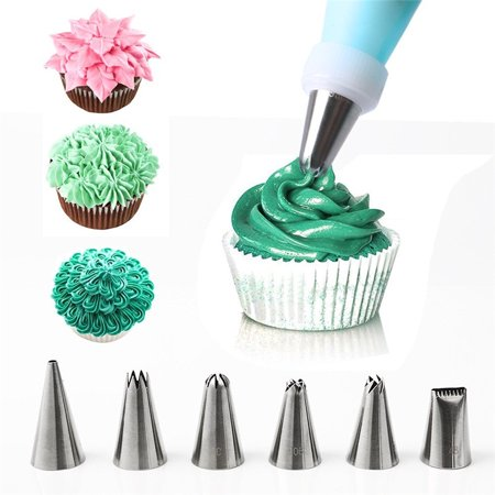 Greensen 52 Pieces Cake Piping Icing Nozzles Tips Kit Set Stainless Steel Russian Nozzle Piping Tips,Piping Nozzles Tips; Cake Piping Nozzles; Icing Piping; Russian Piping Tips; Icing Piping Nozzles - image 7 of 9