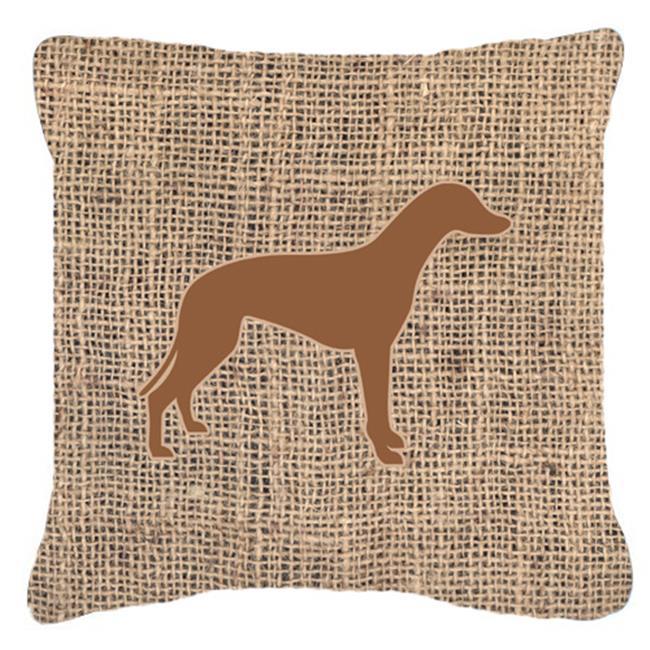 Carolines Treasures BB1086-BL-BN-PW1818 18 x 18 in. Greyhound Burlap And Brown Indoor & Outdoor Fabric Decorative Pillow - image 1 de 1