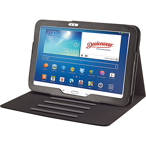 Devicewear Vegan Leather Flip Stand with Magnetic Closure for 10.1-Inch Samsung Galaxy Tab 3 (TRAX-3TAB10-BLK)