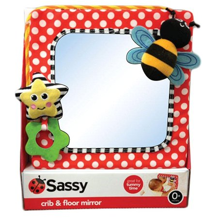 Sassy Developmental Crib and Floor Mirror, Red (Discontinued by Manufacturer) (Baby Crib And Floor Mirror)