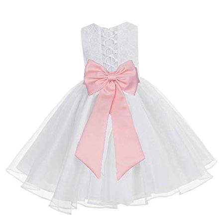 339aae792b3 Ekidsbridal White Lace Organza Flower Girl Dress Toddler Girl Dresses  Christening Dresses Evening Gown Girl Lace Dresses Princess Dresses Pageant  Gown ...