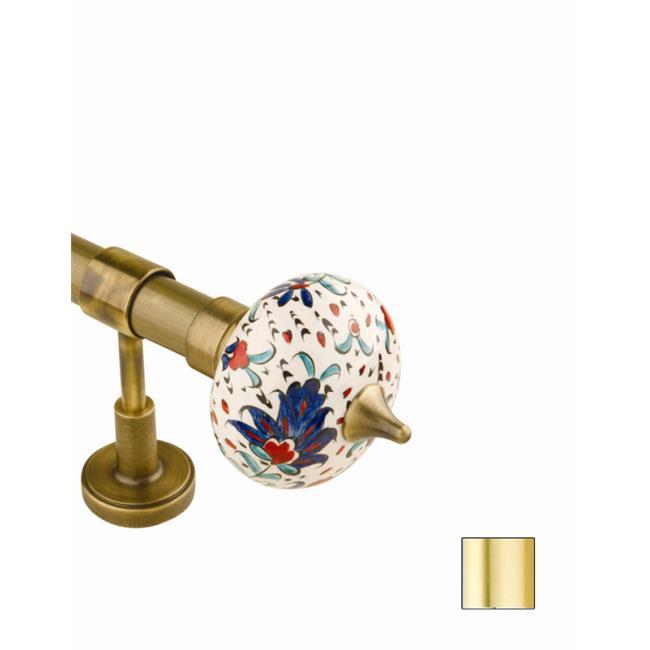 WinarT USA 8. 1052. 20. 03. 360 Flora 1052 Curtain Rod Set -. 75 inch - Matte Brass - 141 inch