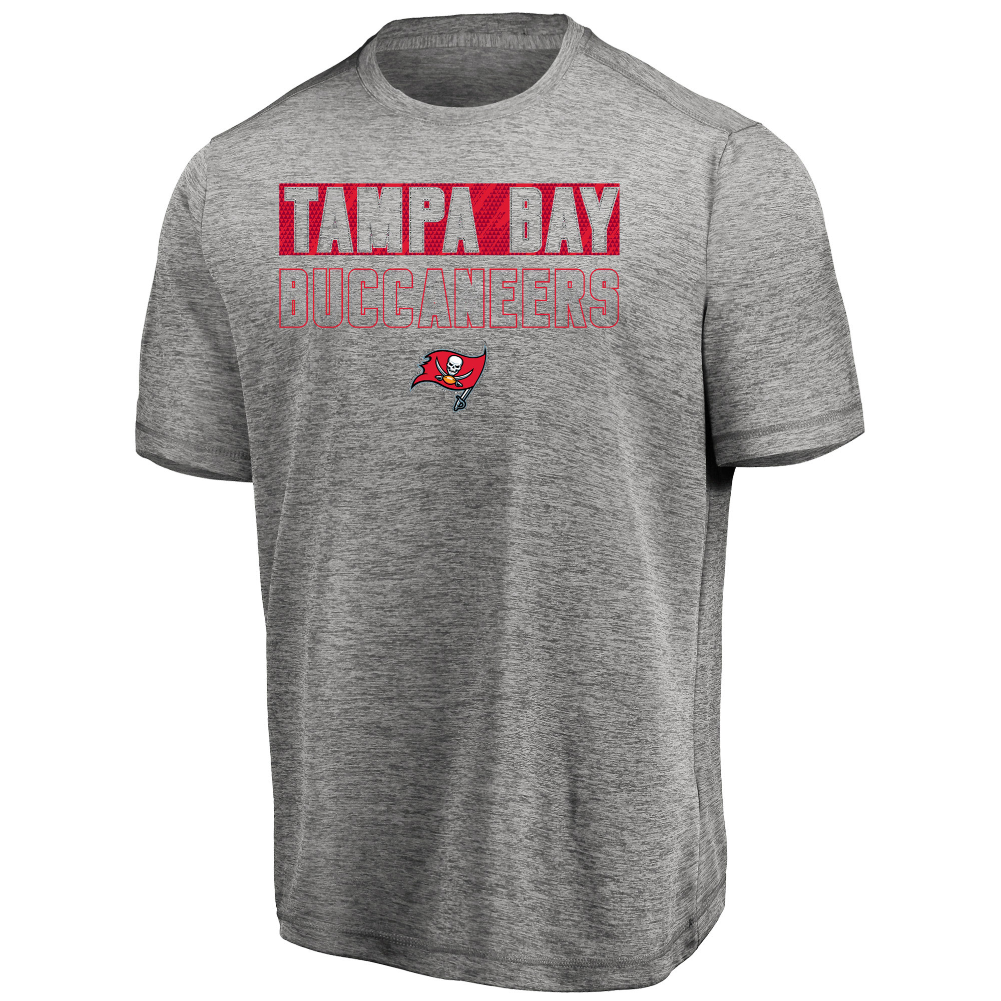 Men's Majestic Heathered Gray Tampa Bay Buccaneers Big & Tall Last Chance Ply Reflective T-Shirt