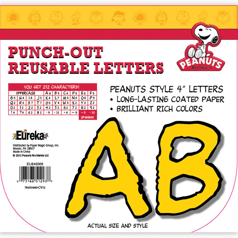 PEANUTS DECO LETTERS YELLOW