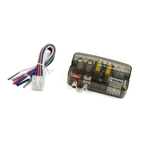 Low Level Converter (Unique BargainsDelay Function High to Low Line Out 2 RCA Car Audio Speaker Level Converter)