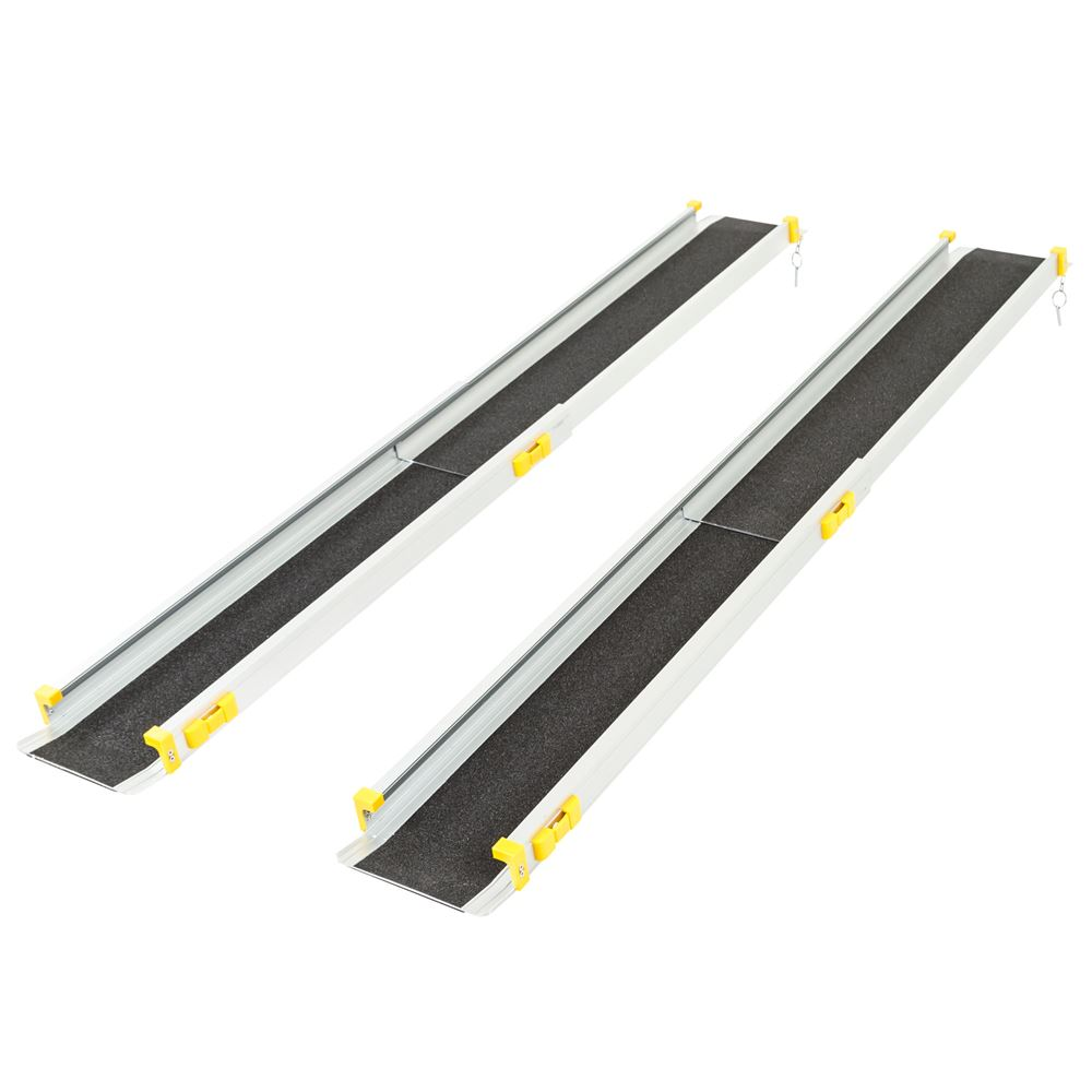 Adjustable Wheelchair Telescoping Track Ramps