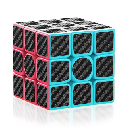 3x3 Speed Magic Cube Carbon With Fibre Stickers