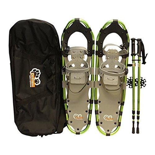 New MTN-G MTN Extreme Lightweight All Terrian Man Woman Kid Teen Snowshoes +Pole + Free Bag (30inch) by MTN Snowshoes