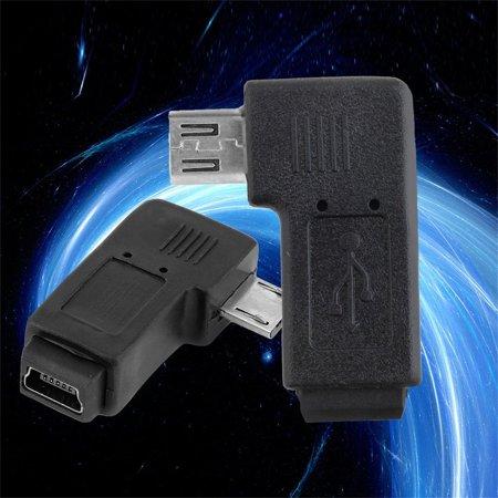 USB Mini 5 Pin Female to Micro 5 Pin Male 90 Degree Angle Adapter Converter - image 4 of 6