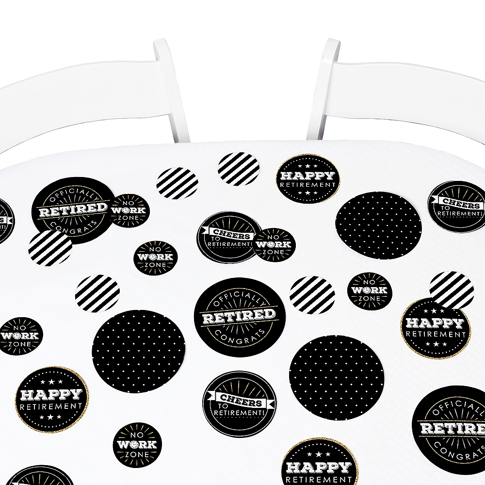 Happy Retirement - Retirement Party Giant Circle Confetti - Party Decorations - Large Confetti 27 Count