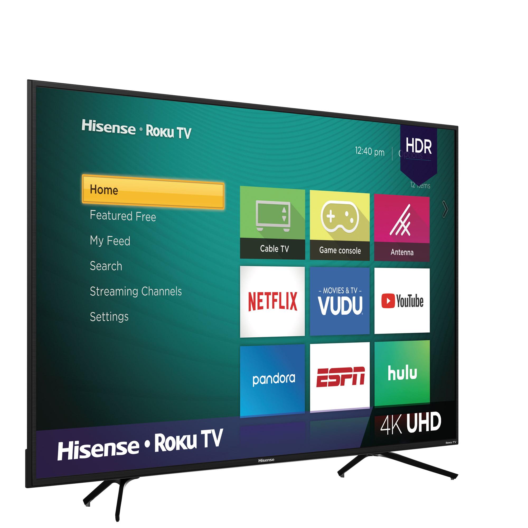 Hisense 65 Class 4k Uhd Led Roku Smart Tv Hdr 65r6e1 Walmart Com Walmart Com