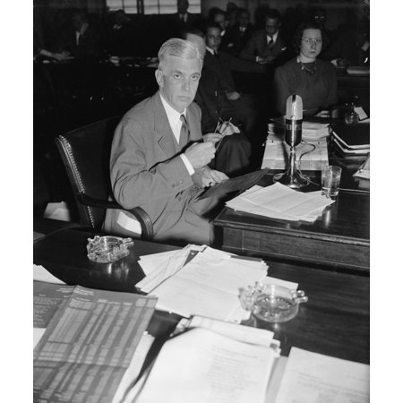 Harold Stanley 1885-1963 President Of Morgan Stanley Co Testifying To The  National Monopoly Committee Dec 19 1939 History