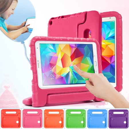 Galaxy Tab 4 7.0, 8.0, 10.1 Case- 1Pcs Child Kid EVA Shockproof Thick Foam Stand Kickstand Hard Case Handle Tablet Cover Case