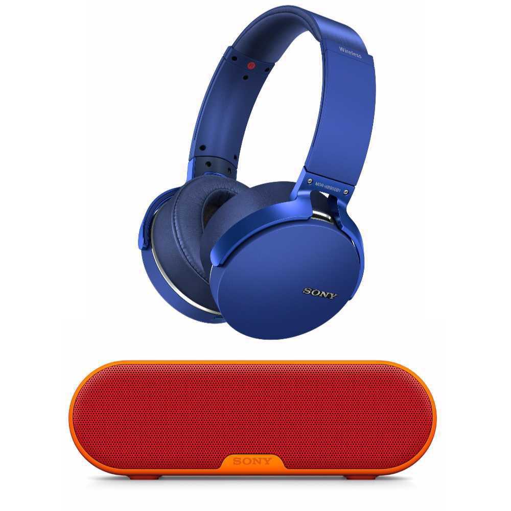 Sony XB950B1 Extra Bass Wireless Headphones (Blue) with SRSXB2 Bundle