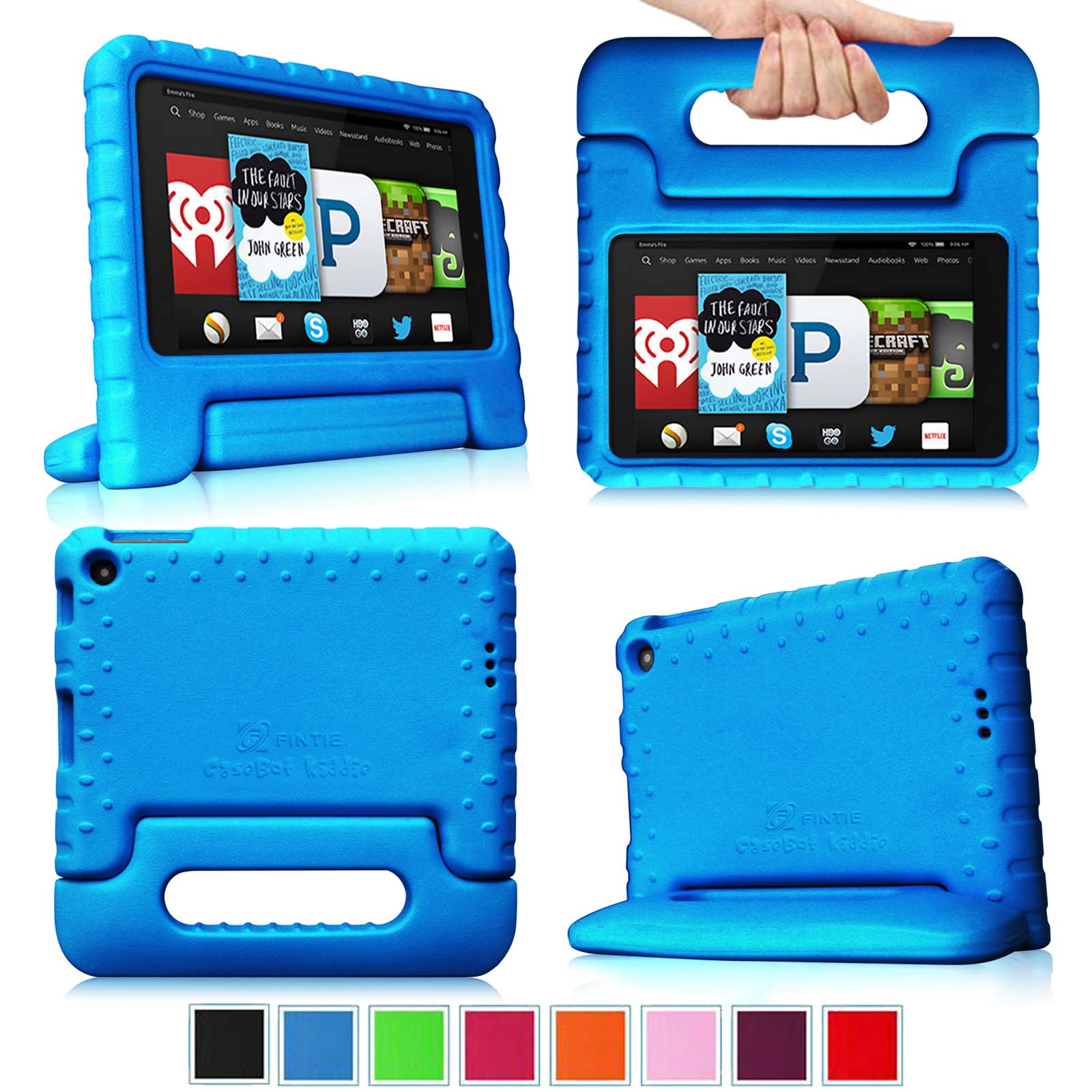 Fintie Light Weight Shock Proof Handle Case for Kids Specially made for Kindle Fire HD 6 2014 Oct Release, Blue