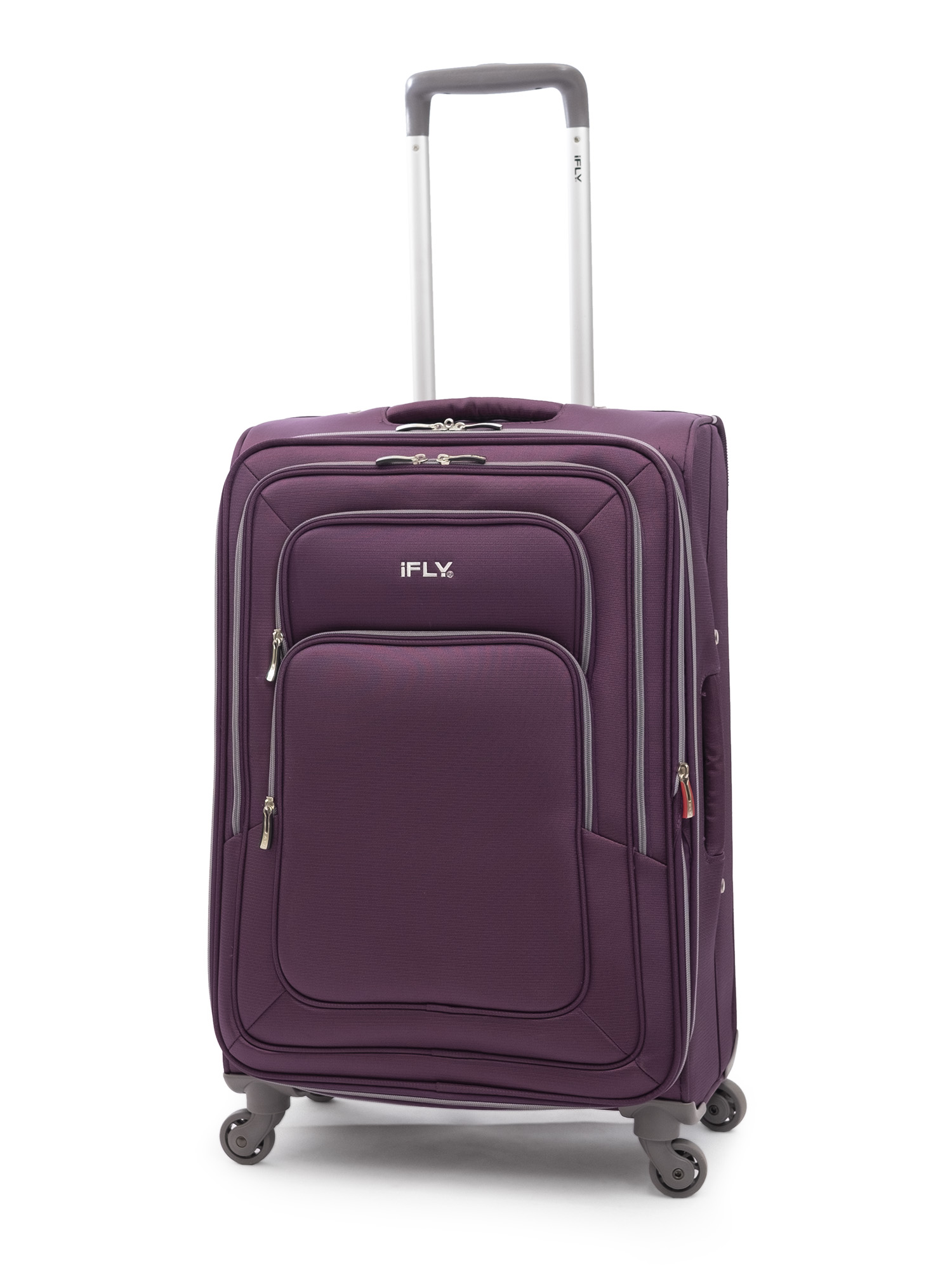 "iFLY Soft Sided Luggage Jewel 24"", Purple"