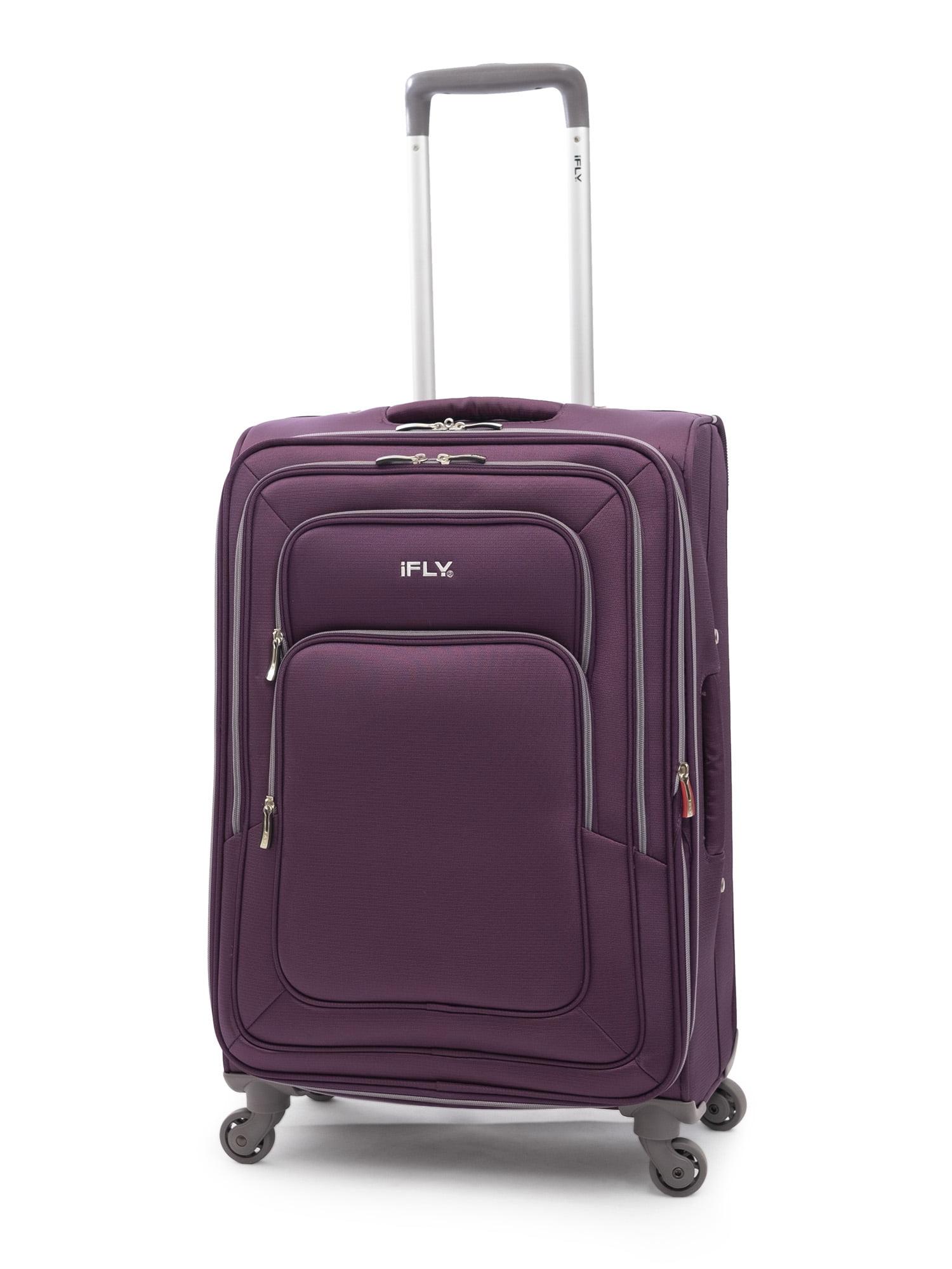 "iFLY Softside Luggage Jewel 24"", Purple"