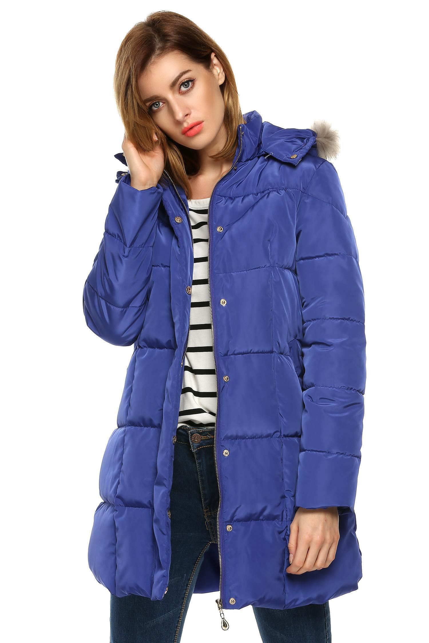 2017 Winter Women Hooded Warm Thicken Long Jacket Down Coat Parka Overcoat by