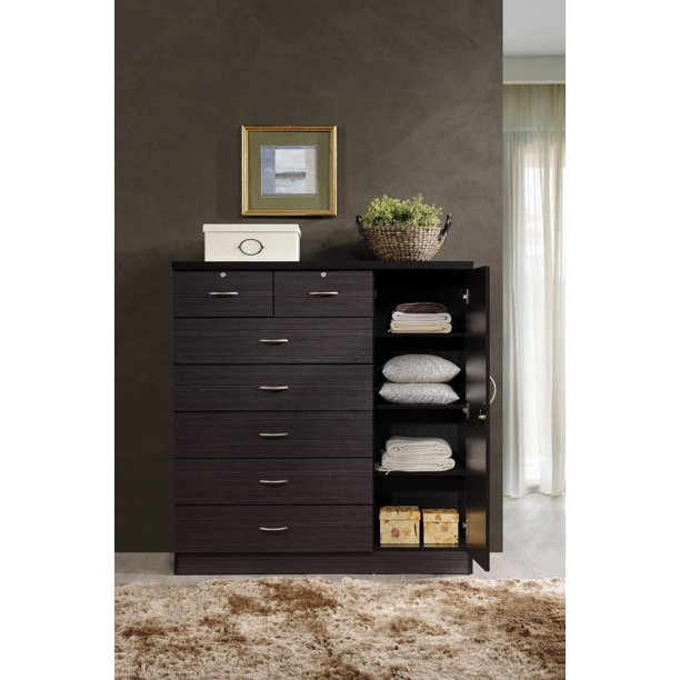 Hodedah 7 Drawer Dresser With Side