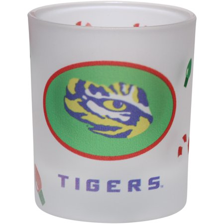 LSU Tigers 8.5oz. Holiday Frosted Milk Glass - No Size