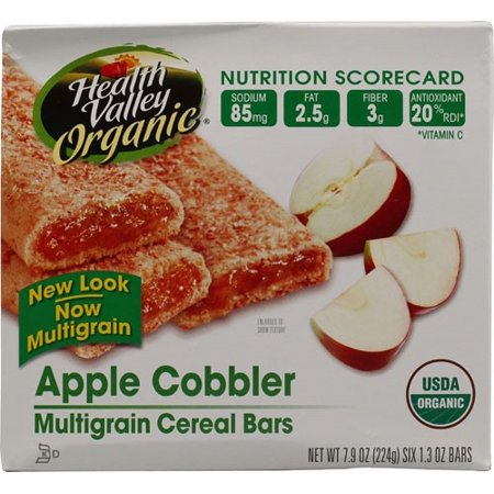 - Health Valley Cereal Bar, Apple, 1.3 Oz