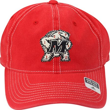 Maryland Terrapins Tonal Logo Slouch Distressed Ripped Adult Flex Fit Cap Hat OSFA ()