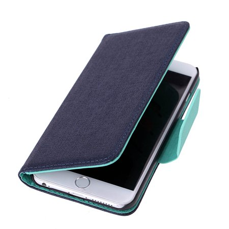 Luxury Flip PU Leather Hard Wallet Case Cover Textured Grain Pouch Stand Folded Magnetic Clip for Apple 6 Plus 5.5