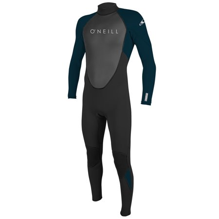 O'NEILL MEN'S REACTOR-2 3/2MM BACK ZIP FULL WETSUIT Black/Slate, (Wetsuit Fit Guide)