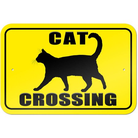 - Cat Crossing Sign