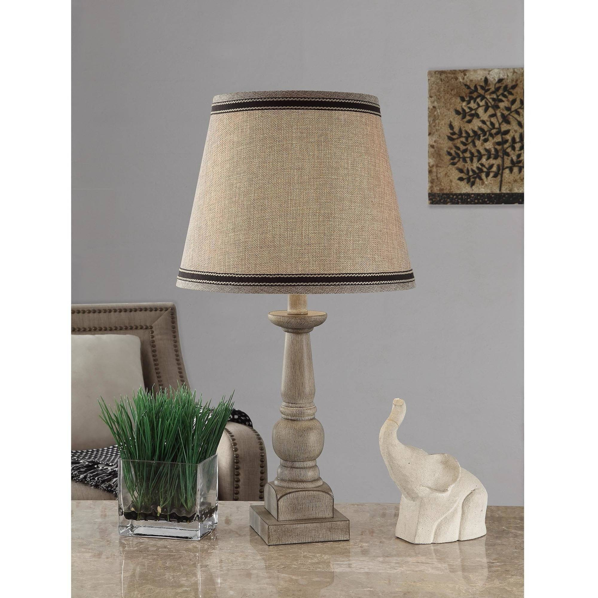 Mainstays Washed Finish Wood Table Lamps Walmart Com