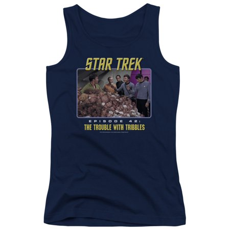 Star Trek Original The Trouble With Tribbles Juniors Tank Top Shirt