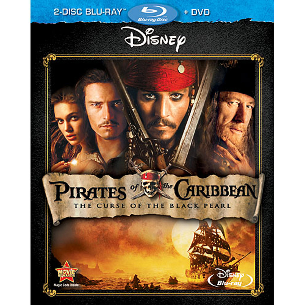Pirates of the Caribbean: The Curse of the Black (2-Disc Blu-ray + DVD)