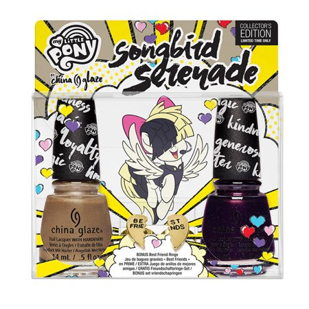 China Glaze Nail Polish My Little Pony Best Ponies Forever 1538/Songbird Serenade 1537, Best Friends Rings Combo
