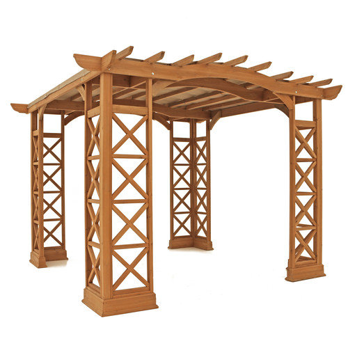 Yardistry Arched Roof 8.2 Ft. H x 12 Ft. W x 12 Ft. D Pergola