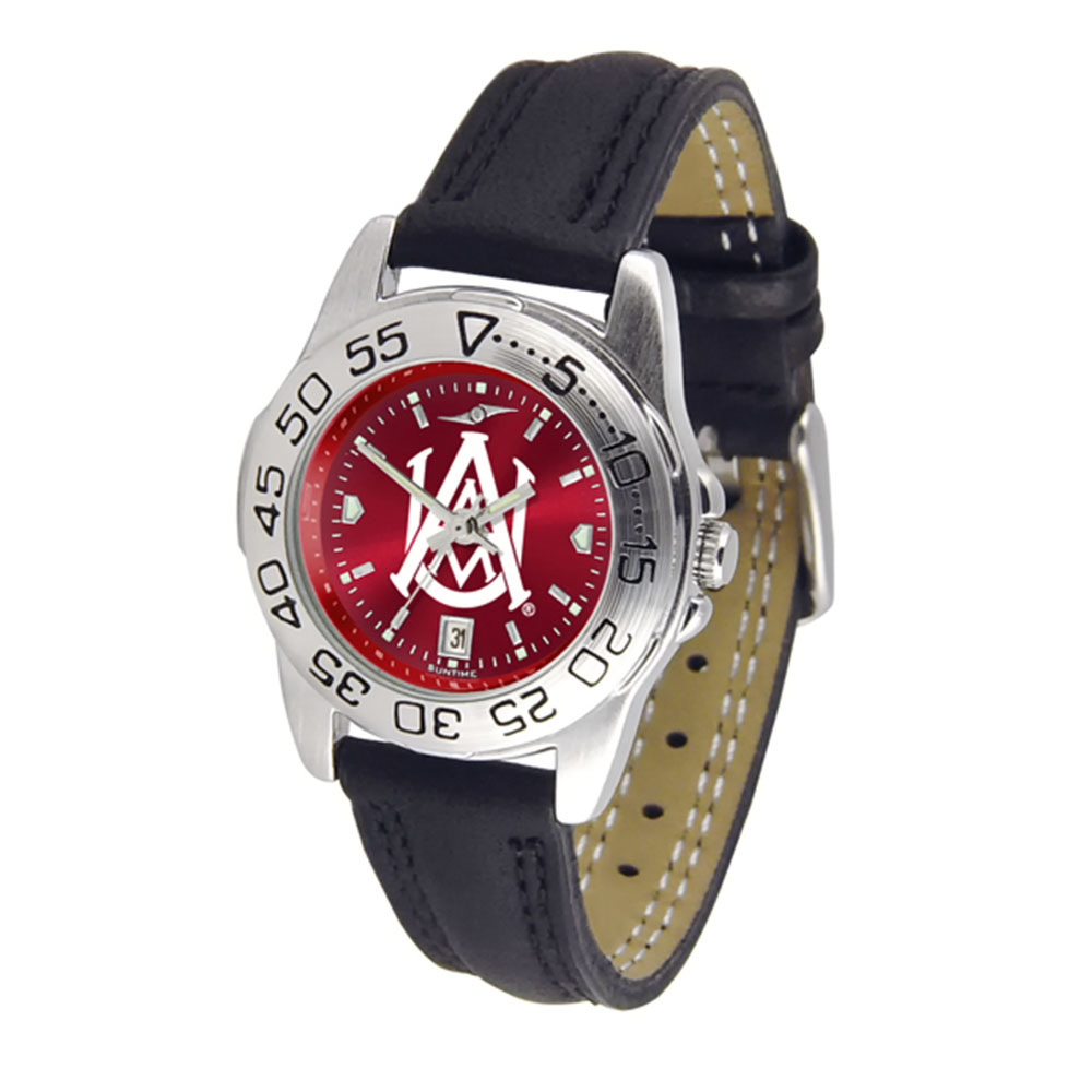 "Alabama A&M Bulldogs NCAA AnoChrome ""Sport"" Women's Watch (Leather Band)"