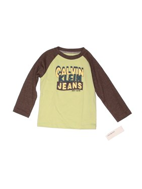 Pre-Owned CALVIN KLEIN JEANS Boy's Size 4T Long Sleeve Polo