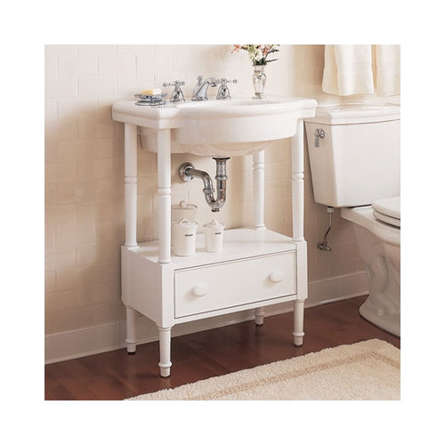 Bundle-28 American Standard Retrospect Washstand with Bathroom Sink Set (4 Pieces)