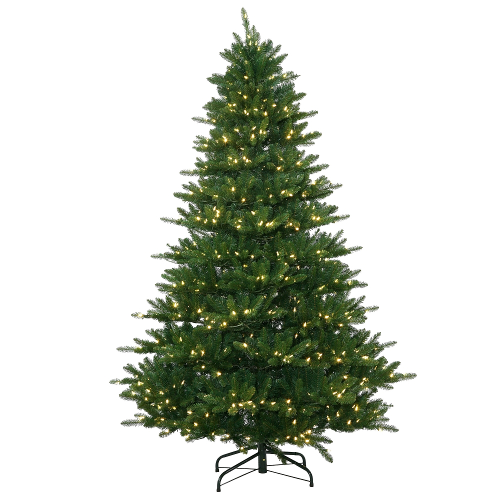 6.5' Ft. Pre-Lit Nikko Instant Shape Artificial Christmas Tree - Warm White LED