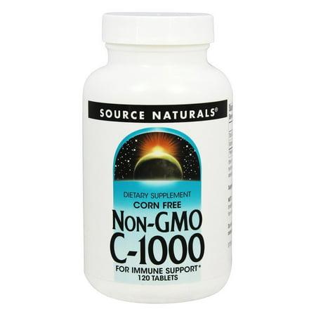 Source Naturals - Non-GMO C1000 - 120 (C-1000 Non Gmo Corn)