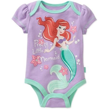 Little Mermaid Newborn Baby Girls' Ariel Bodysuit