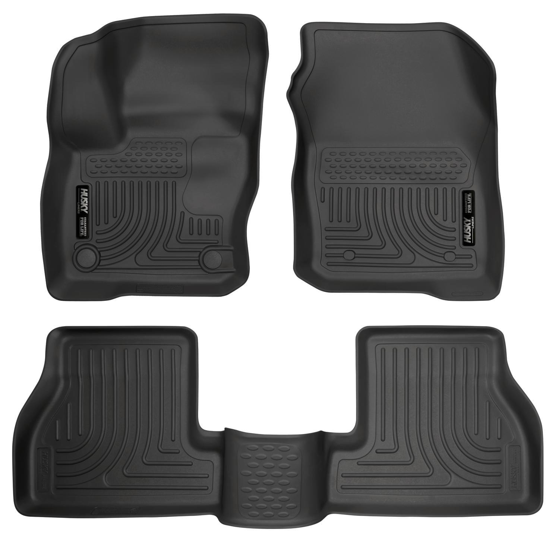 Husky Liners Front & 2nd Seat Floor Liners Fits 16-18 Focus