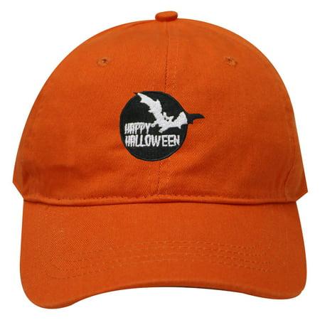 City Hunter C104 Happy Halloween Baseball Caps - Orange