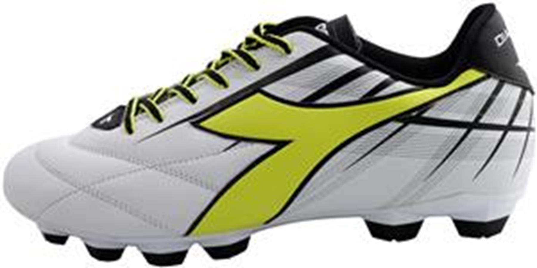 Diadora Men's Forte MD LPU Athletic Soccer Cleats White Polyurethane 10.5 M