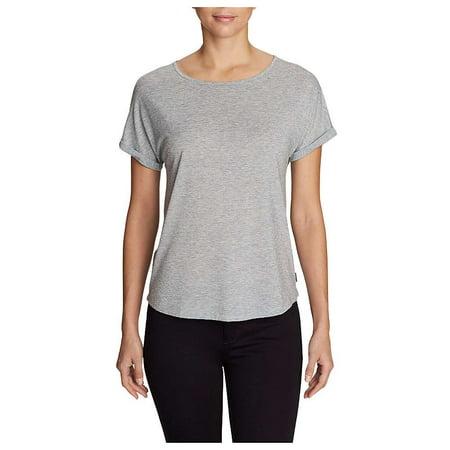 77c32f1063836 Eddie Bauer Travex - Eddie Bauer Travex Women s Mercer Bateau Roll Sleeve  Shirt - Walmart.com
