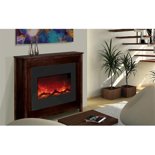 Amantii ZECL-30-3226-ESPRESSO 30 In. Fireplace With Espresso Stained Mantle